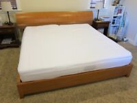 Unique platform bed and mattress USA king size