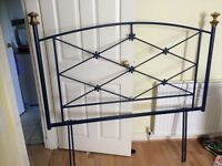 Gorgeous Blue Double Bed Metal Head Board
