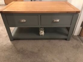 Coffee table grey - cotswold company - excellent condition -