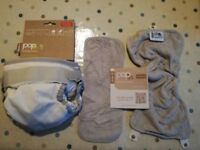 Washable cloth nappy - 'Pop in' single washable nappy