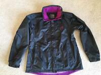 Karrrimor size 10 black waterproof jacket with hidden hood. Worn once