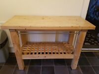 Kitchen island / Butchers block solid heavy piece
