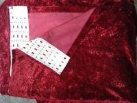 New Red Velvet Curtains