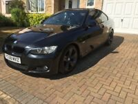 2009 58 BMW 320d Coupe M Sport - Black w/ Black Heated Leather