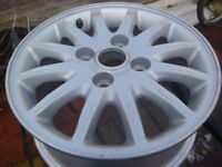 Wheels - Full Set of 15 inch Mitsubishi Alloy Rims, one Brand New - VGC £ 45