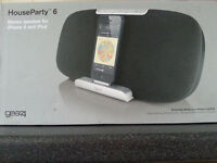 Apple iPod Docking station Gear4 HouseParty 6 lightning docking station *NEW*