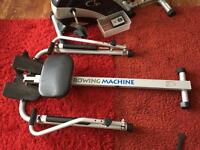 Rowing machine with digital display