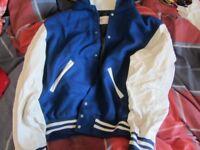 Blue Sports Plus Award Jacket/Varsity/Letterman - MEN'S LARGE