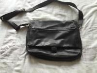 John Lewis Faux Leather Messenger Bag