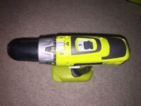 BRAND NEW RYOBI 18v DRILL WITH 4 BATTERIES AND FAST CHARGER