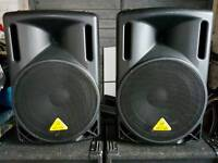 Beringher 212XL 800W Passive PA speakers