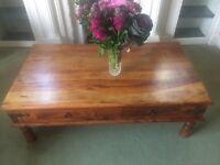 Rustic 4 door coffee table in great condition