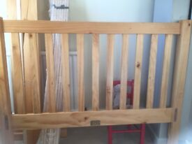 John Lewis Small Double Bed Frame.. damaged