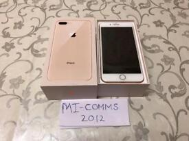 Apple IPHONE 8 plus 64GB**NEW** WHITE AND GOLD UNLOCKED**