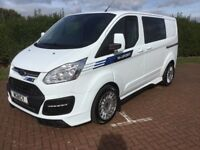 FORD TRANSIT CUSTOM M SPORT CREW VAN LIMITED EDITION STUNNING AS NEW