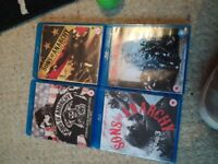 Sons of anarchy seasons 1,2,3,4 on bluray £20 for the lot