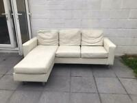 Corner sofa faux leather FREE to collect