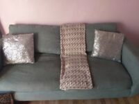 Free duck egg blue sofa
