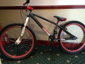 X rated mesh boys stunt bike 26 inch wheels age 10-15 years vgc used twice £100 ono tel 07745467613