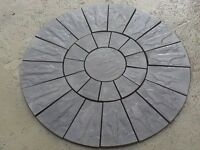Stone Concrete Charcoal Circle Patio Paving Set 1.8 Meter Looks Really Great.