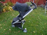 Quinny ZAPP Xtra 2 pushchair Stroller in Rocking Black EXCELLENT CONDITION