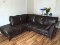 DFS Kennedy corner sofa. Dark Brown. Excellent condition. 2 years old 1750.00 new