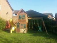 Goldenridge Climbing frame, swing and slide set