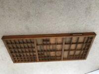 Vintage wooden printers tray/board