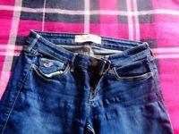 ladies hollister skinny dark wash jean