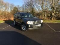 Jeep Grand Cherokee V6 Crd Overland Mot Aug 18 (black) 2007