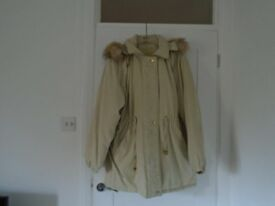 Ladies beige anorak