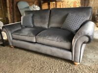 Large Sofa Grey Velvet Brand New