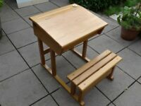 Child's wooden desk
