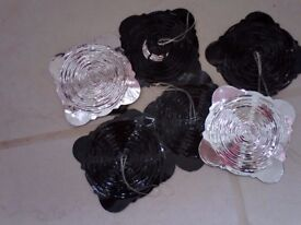 Black and silver smaller sized garlands 6 in total.......all for £1