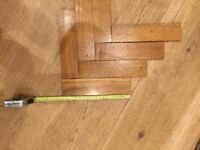 Reclaimed oak parquet flooring tiles. All lifted see pic approx 1100 tiles 20x5 cm by 8mm