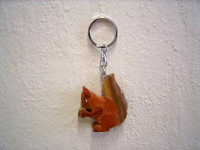 """Schlüsselanhänger """"Eichhörnchen"""" (Holz) / Keychain """"Squirrel"""" (Wood)"""
