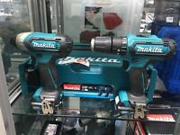 Makita - clx201aj - drill & impact driver, case and charger- new