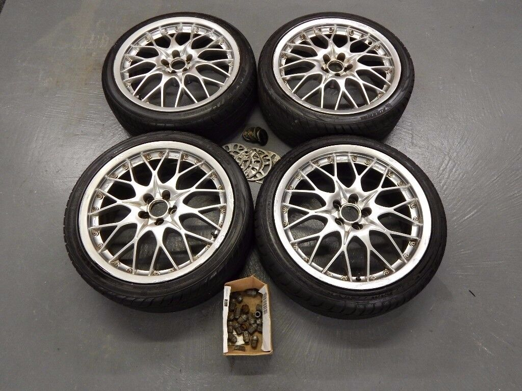 "Set of four 18"" BBS Style Alloy Wheels - 5x100 fitment - Fit Subaru, Toyota, Skoda, VW Golf etc"