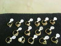 Gold plated/rhinstone rings