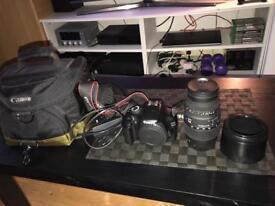 Canon 1100d +Canon bag+Sigma Lens 70-300mm