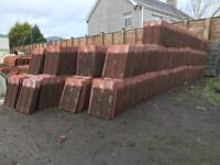 BCC Red concrete roofing tiles