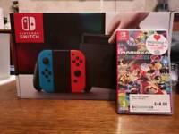 Nintendo switch with mario kart 8