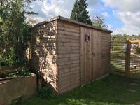 Custom made wooden garden shed 12x4 feet