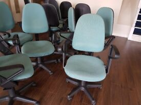 Office chairs with armrests