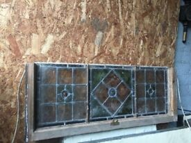 True Victorian Stained Glass Leaded Window call for more info