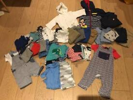 Huge bundle of boys' 6-12 month summer clothes