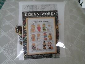 Cross Stitch Kit of Calendar Bears