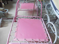 PINK CHILDS TRAMPOLINE INDOORS