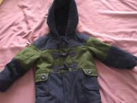 18-24 month boys Mothercare duffle coat