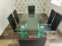 Original Italian Glass Dining Table RRP £3000